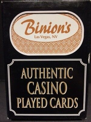 Authentic Binion's Las Vegas Casino Table Played Deck of Cards - Freemont Street