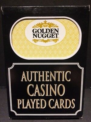 Authentic Golden Nugget Las Vegas Casino Table Played Deck of Cards Freemont St