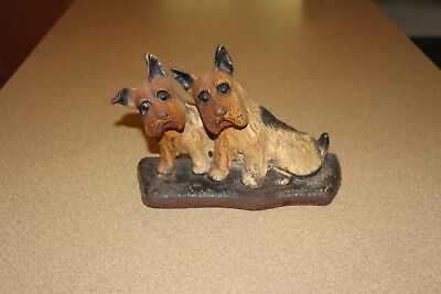 Antique Wrought /Cast Iron Cairn, Westie, Scotty Terrier Door stop Doorstop Dog