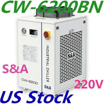 USA Stock CW-6200BN Industrial Water Chiller for 200W Laser Diode 220V 60Hz