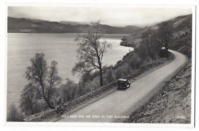 LOCH NESS The Road to Fort Augustus, RP Postcard by JB White, Unused