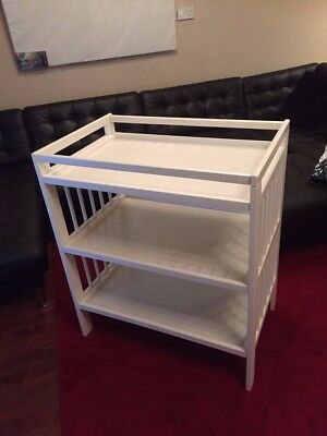 Ikea White Gulliver Baby Changing Table