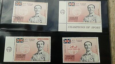 4 DIFF.SHARJAH Stanley Matthews ENGLAND STOKE CITY BLACKPOOL  FOOTBALL SOCCER