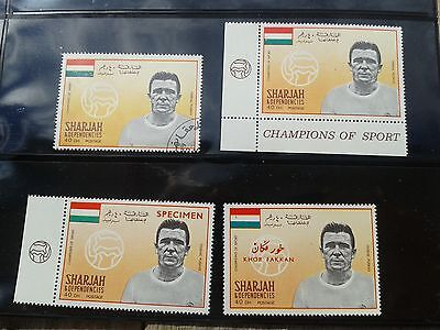 4 DIFFERENTI SHARJAH Ferenc Puskás UNGHERIA SPAGNA REAL MADRID  FOOTBALL SOCCER