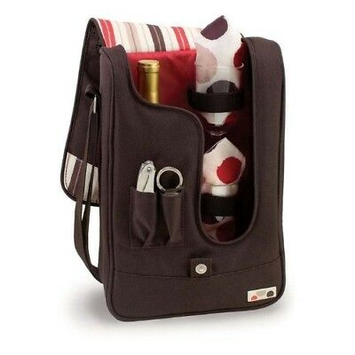 Barossa Insulated Single Bottle Wine Tote and Cooler - Service for 2. Brookstone