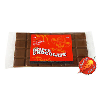 Carolina Reaper Milk Chilli Chocolate Bar - 2.5% Carolina Reaper Chilli 100g