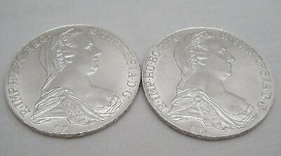 * 2. Antique or Vintage Silver Maria Theresa 'THALER' Coins. Dated 1790.