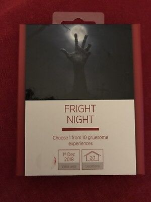 Fright Night Gift Experience Zombies/Ghosts Ideal Christmas Gift!