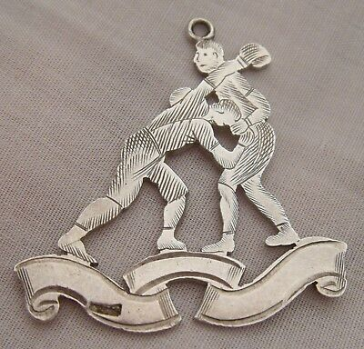 "*A Very Rare SILVER Late C19th - Early C1900's ""Boxing"" Pugilist  Pendant Fob!"