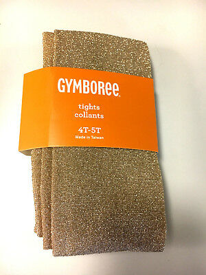 Gymboree Toddler Girls Sparkle Tights GOLD size 4-5 NEW