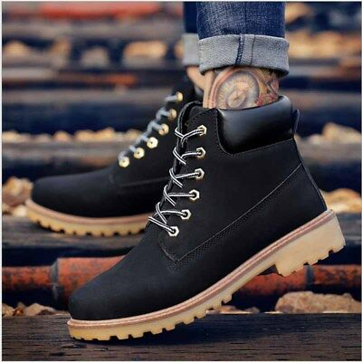 Men/'s Martin Boots Outdoor Waterproof Leather Lace up Casual Comfy Ankle Shoes