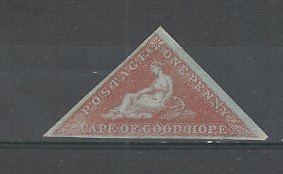 Cape Of Good Hope   ,  1 D Red Mh Blue Paper Geuine ? Sold As Is