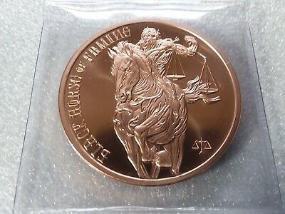 Four Horseman Of The Apocalypse - Black Horse Of Famine 1 oz 999 Fine Copper