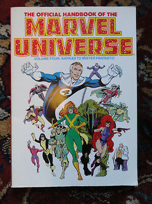 Vintage 1989 Official Handbook Of The Marvel Universe Vol. 4