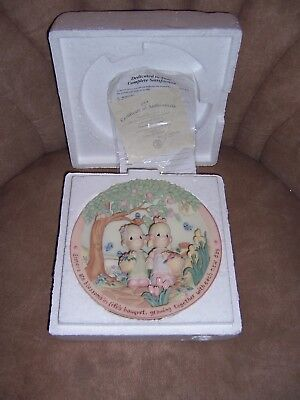 Precious Moments Gentle Blossoms Sisters Are Forever 3-D Sculpted Plate #6797A
