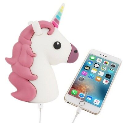 Bateria Smartphone POWER BANK 1200 mha  Unicornio en caja regalo