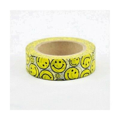 "Cinta decorativa  WASHI TAPE ""EMOTICONOS"".  10 Metros x 1,5 Cm"