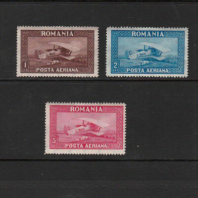 Romania 1928 Set Of Mint Airmail Stamps Catalogue Value £20+