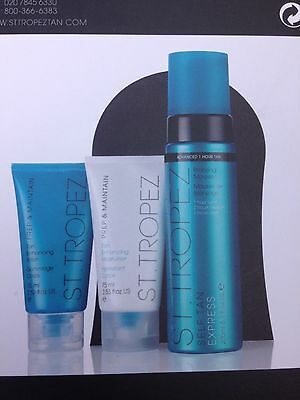 ST TROPEZ SELF TANNING KIT Mousse Body Polish Moisturiser Mit NEW BOXED