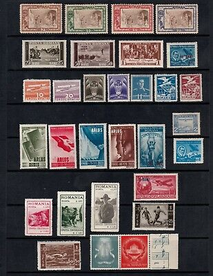Romania 1907-1956 Selection Of Mint Stamps Including Complete Sets