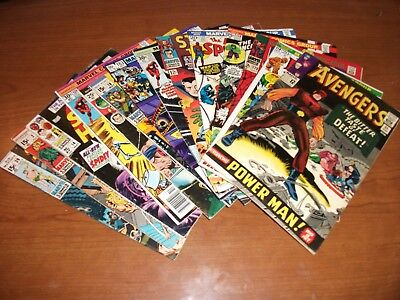 Vintage Marvel Superhero Silver Age 15 Book Lot- Instant Collection