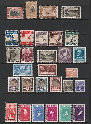 ROMANIA MINT STAMPS FROM ALL PERIODS INCLUDING SPORTS, RED CROSS &c.
