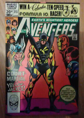 Avengers Vol 1 #213 (1981) Shooter Hall Green VF+ Combined P&P Available