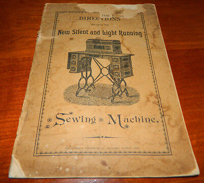 Directions For Using The New Silent and Light Running Sewing Machine Musty Smell