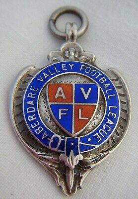 *C1930s Silver Hallmarked Welsh Interest ABERDARE FOOTBALL Trophy Award Fob