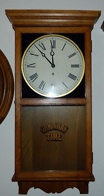 Pequegnat Canadian Time Painted Glass Wall Clock