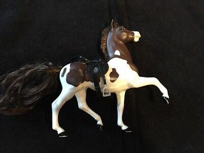 Breyer Horse - Reeves Model Horse with HAIR Brown/White w/ Saddle