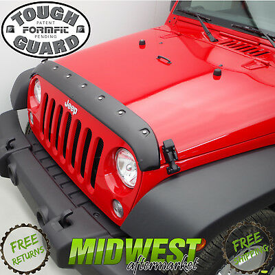 FormFit Textured Tough Guard Hood Protector For 2007-2017 Jeep Wrangler JK