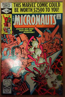 Micronauts Vol 1 #21 (1980) Shooter Golden Mantlo Broderick VF+ Combined Postage