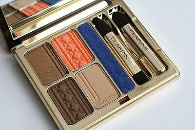 "NEW CLARINS COLOURS OF BRAZIL ""Ltd Edition"" Eyeshadow + Liner Palette *FREE P+P*"