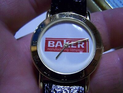 Old BAKER MONITOR Wrist Watch Evansville WI Hit Miss Gas Engine Pump 125th NICE!