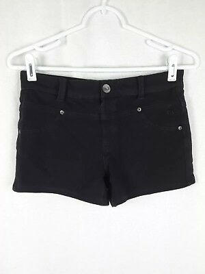 Justice Girl's sz 12.5 Regular Solid Black Cotton Stretch Shorts