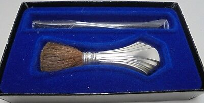 Vintage Towle Sterling Silver make up brush with box