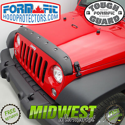 FormFit Smooth Tough Guard Hood Protector For 2007-2017 Jeep Wrangler JK