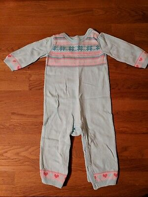 Knitted cotton patterned baby all in one 6-9 months