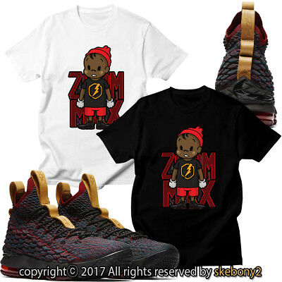 cd34e656c994 NEW NIKE LEBRON 15 New Heights CUSTOM T SHIRT JD 15-1-2 Cavs blue ...