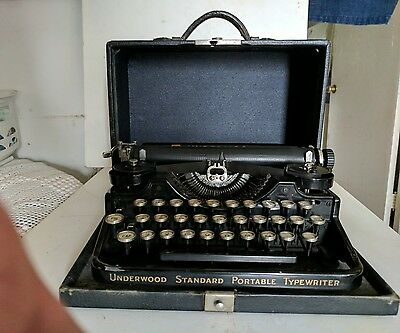 Antique Portable Typewriter by Underwood