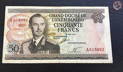 Luxembourg- 50 Francs 1972
