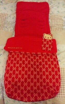 Hello kitty red cosy toes/footmuff