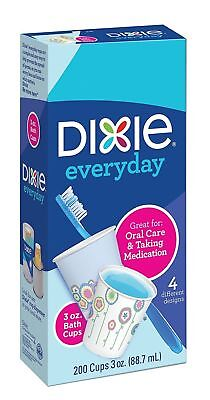Dixie Disposable Bath Cup, Oral Care and Taking Medication, 3 Ounce, 200 Cups