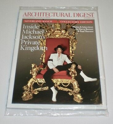 MICHAEL JACKSON Neverland Ranch Architectural Digest Magazine 11/09  SEALED NEW
