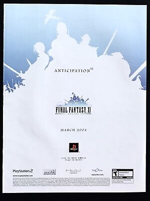 2004 Vintage Print Ad FINAL FANTASY XI Video Game Release PlayStation