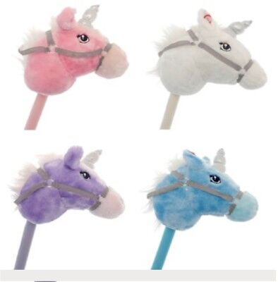 Kids Play Galloping Hobby Horse Unicorn Soft Pony Toy With Horse Sound