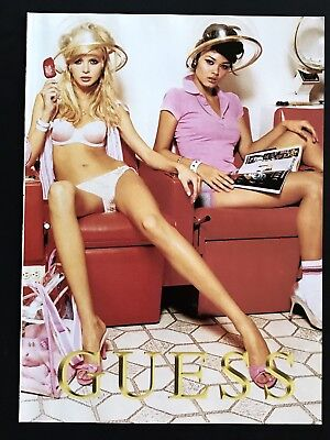 2004 Vintage Print Ad GUESS Marciano Woman's Fashion Sexy Blond Photo Hair Salon