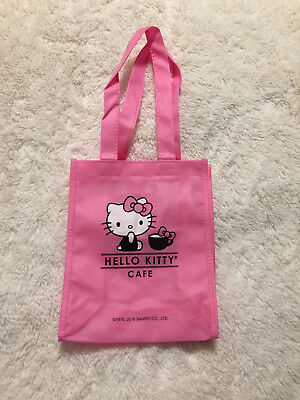 Lot of 3 New Hello Kitty Cafe Pink Canvas Tote Bag