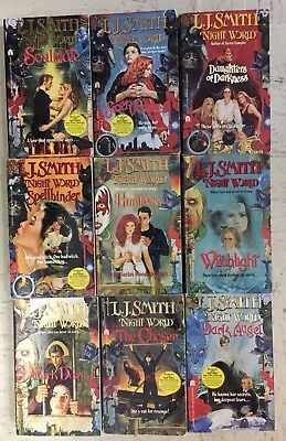 L. J. Smith NIGHT WORLD Series Complete 9 Paperback Book set Original Covers